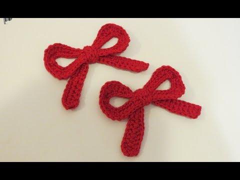كروشيه فيونكه بالباترون Crochet Bow + Battern