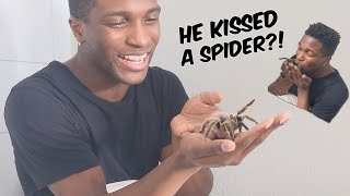 Hypnotized to Kiss a LIVE TARANTULA?! | Hypnosis Collab with Brent Rivera