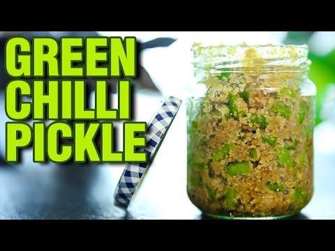 Instant Green Chilli Pickle   Green Chilli Pickle Recipe   Pickle Recipe   Mirchi Ka Achar   Smita