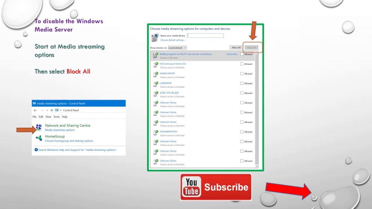 Windows media streaming - Windows 7, 8 1 and 10 has a DLNA streaming server