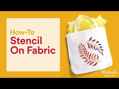 Stenciling on Fabric | Crafting Quick Tips | Michaels