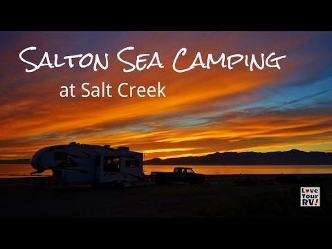 Dry Camping on the Salton Sea at Salt Creek