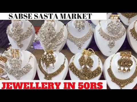Cheapest Jewellery Market Ever [Wholesale/Retail] | Chandni Chowk | Delhi