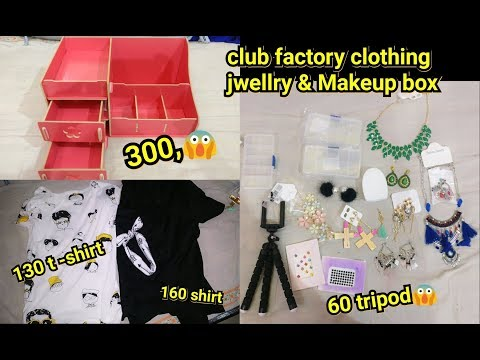 AFFORDABLE CLUB FACTORY haul | jewelry ,cloths, makeup box | shy styles