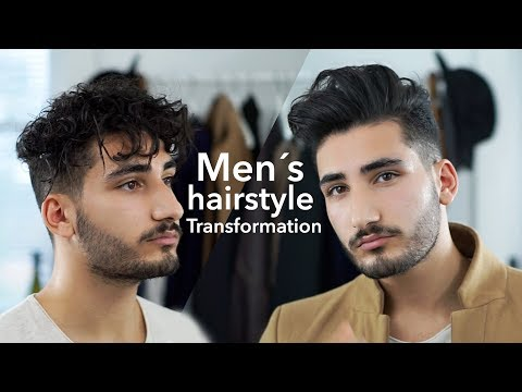 men's-hairstyle-transformation-|-curly-and-straight-|-styling-tutorial-2017