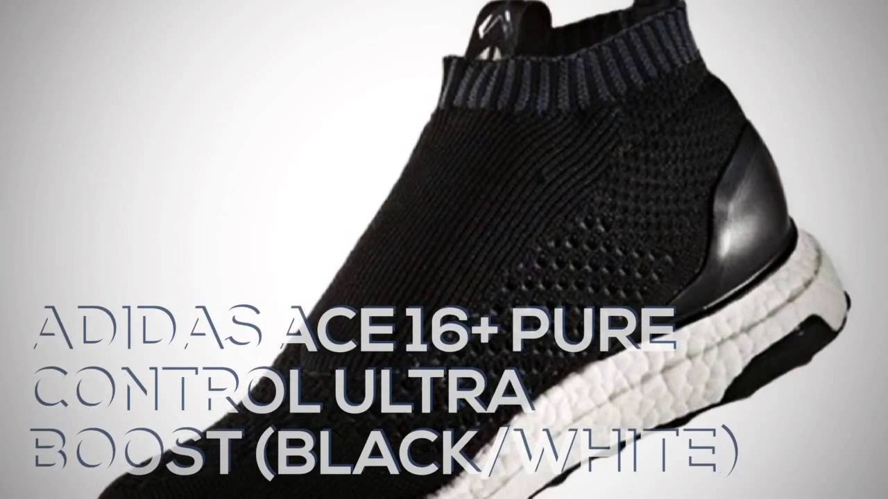 low priced b634c b8629 ADIDAS ACE 16+ PURE CONTROL ULTRA BOOST (BLACK WHITE)   PEACE X9 - YouTube