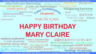 MaryClaire   Languages Idiomas - Happy Birthday