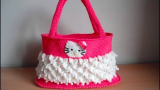Repeat youtube video how to crochet hello kitty bag by marifu6a free pattern tutorial