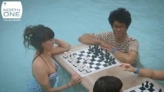 richard ayoade aisling bea bath chess in budapest travel man 48 hours in