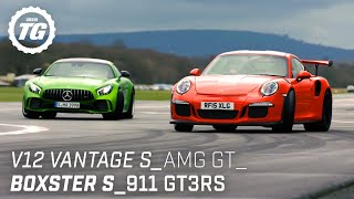 Chris Harris Drives... Sportscars: V12 Vantage S, AMG GT R, Porsche 911 GT3RS | Top Gear