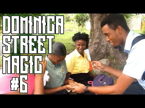 DOMINICA STATE COLLEGE GIRLS REACTS TO REAL STREET MAGIC