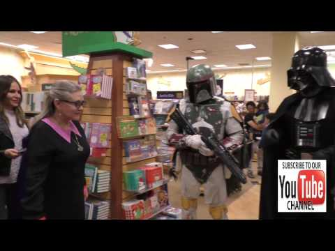 Carrie Fisher Arrives To Her Book Signing At Barnes & Noble At The Grove In Hollywood