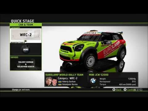 WRC 5 FIA World Rally Championship - All Cars | List (PC HD) [1080p60FPS]