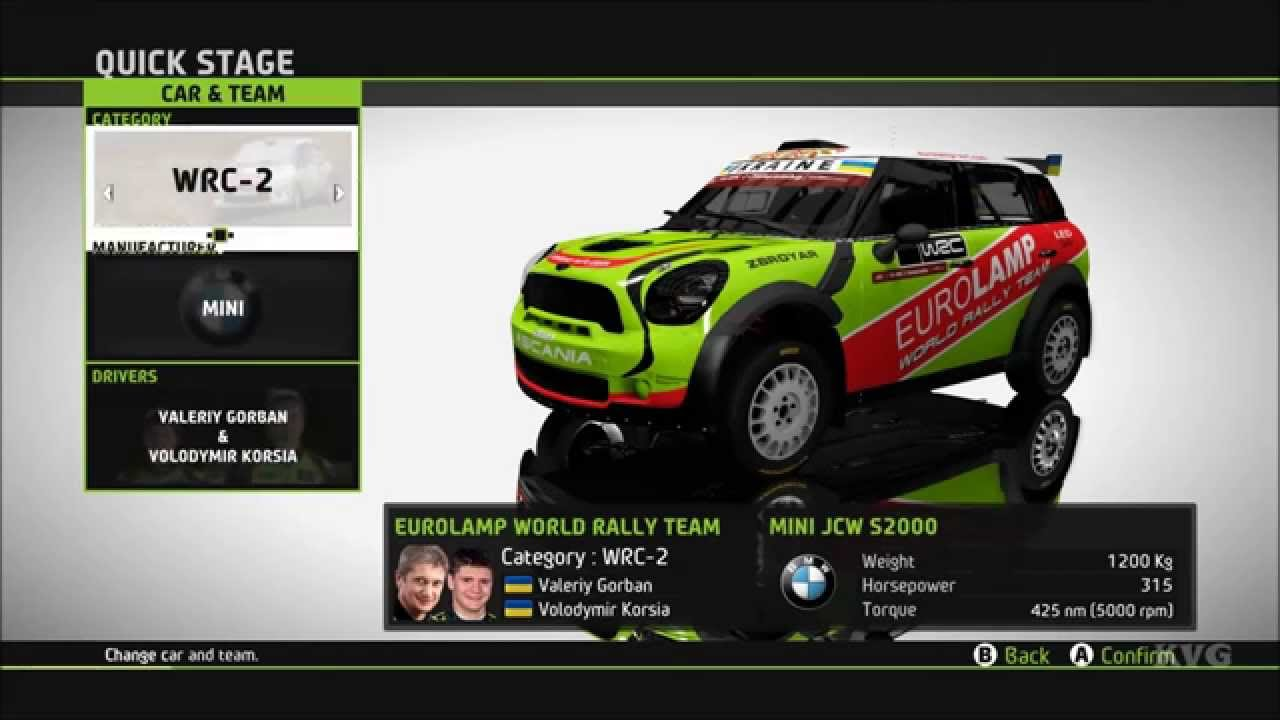 Wrc 5 Fia World Rally Championship All Cars List Pc