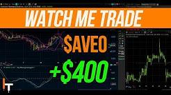 Watch Me Day Trade $AVEO +$400