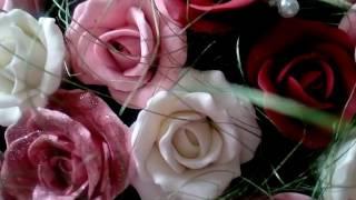 лепка роз из холодного фарфора.Без молдов,для начинающих
