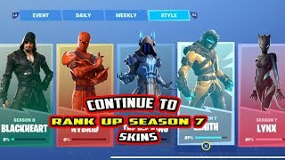 HOW TO STILL RANK UP ZENITH, ICE KING, AND LYNX SKINS - FORTNITE SEASON 8