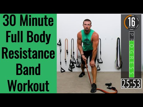 32 Minute Full Body Resistance Band Workout Band Workout for Men & Women