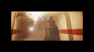 Darth Vader hallway scene set to The Imperial March!