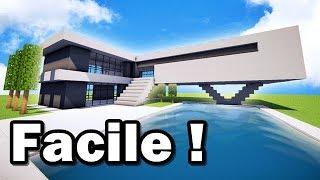 MAISON ULTRA MODERNE FACILE À FAIRE SUR MINECRAFT ! TUTORIEL ! :)