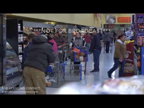 1-13-17 Dodge City, Kansas Ice Storm - Grocery, Gas Pandemonium