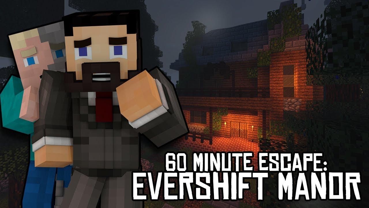 MINECRAFT ESCAPE ROOM: Evershift Manor YouTube