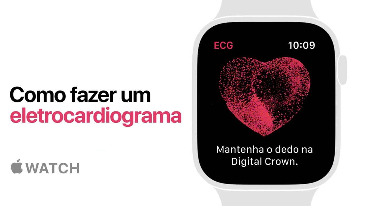 Apple Watch Series 4 — Como fazer um eletrocardiograma — Apple