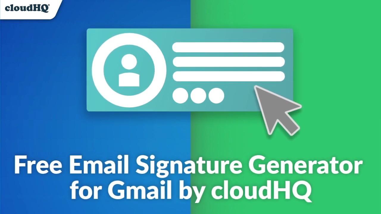 Free Email Signature Generator By Cloudhq سوق Chrome الإلكتروني