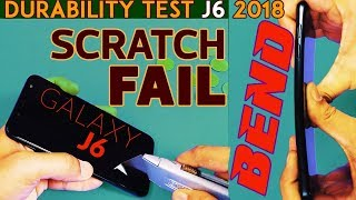 Samsung Galaxy J6 2018 (Scratch FAIL) BEND TEST!! (Durability Video) + Unboxing, 1st Impressions