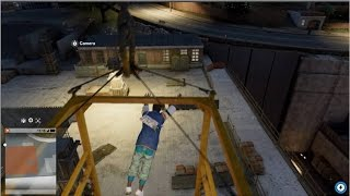 WATCH DOGS 2 PARKOUR TRICKS & STUNTS OFF CRANES/BUILDINGS!!!