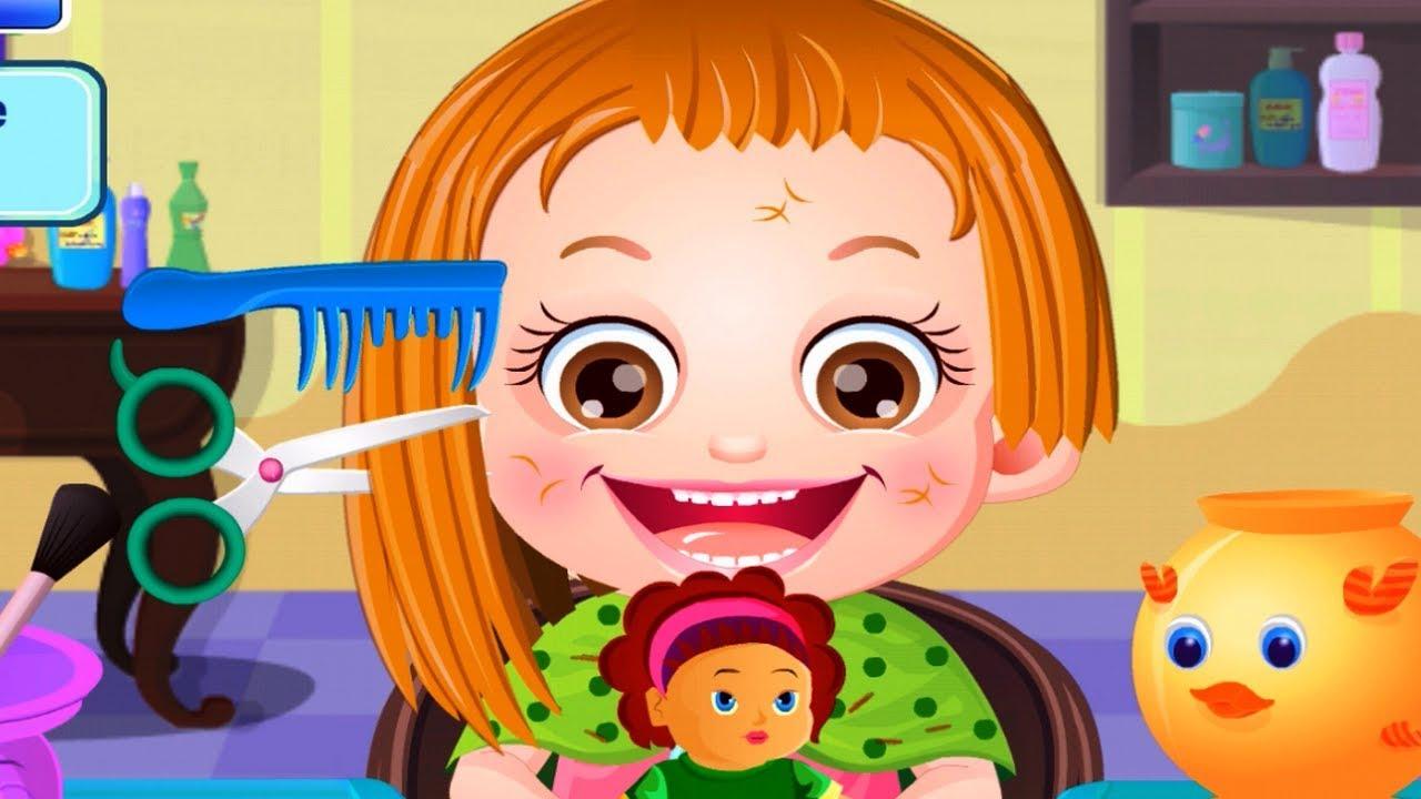 baby hazel hair care fun makeover baby hazel hair cut game youtube