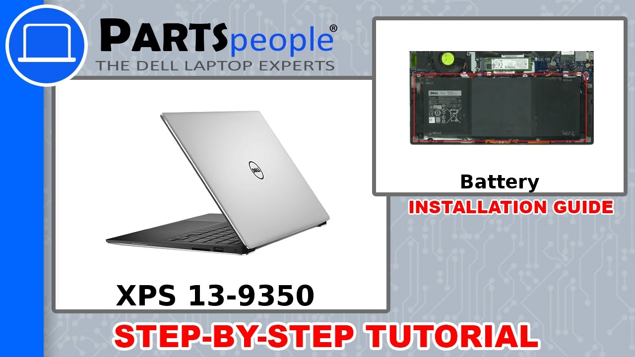 Dell XPS 13-9350 (P54G002) Battery How-To Video Tutorial