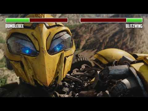 Bumblebee Vs. Blitzwing WITH HEALTHBARS | Canyon Fight | HD | Transformers: Bumblebee