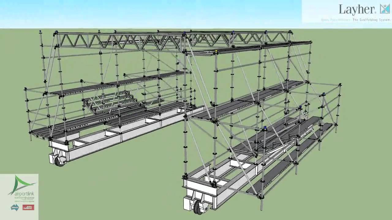 Mobile Scaffold Gantry In Tunnel Youtube