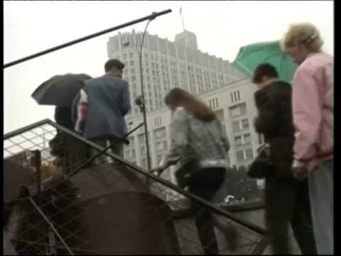 Barricades outside of the Russian government building