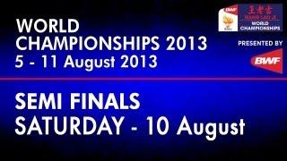SF WD Wang XL Yu Y vs C Pedersen K Rytter Juhl 2013 BWF World Chionships