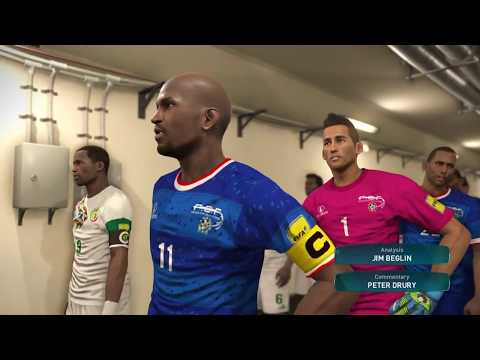 PS4 PES 2017 Gameplay Cape Verde vs Senegal HD