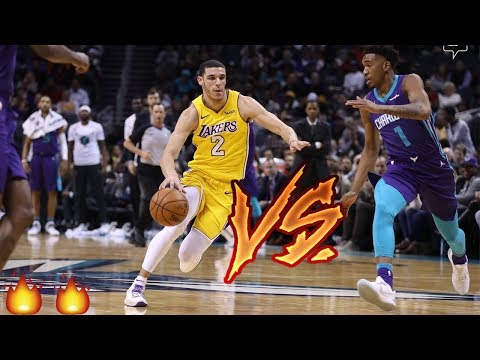 Lonzo Ball VS Malik Monk & Dwayne Bacon ROOKIE SHOWDOWN!! Lakers vs Hornets!