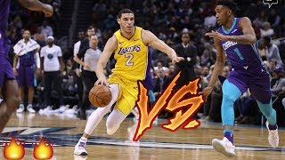 Lonzo ball filled up the stat sheet tonight in charlotte. lakers coming off a big win philly get another on road. jordan clarkson had huge 4...