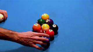 How to Train a Pool Table for Accurate and Consistent Ball Racking, an excerpt from VENT-I