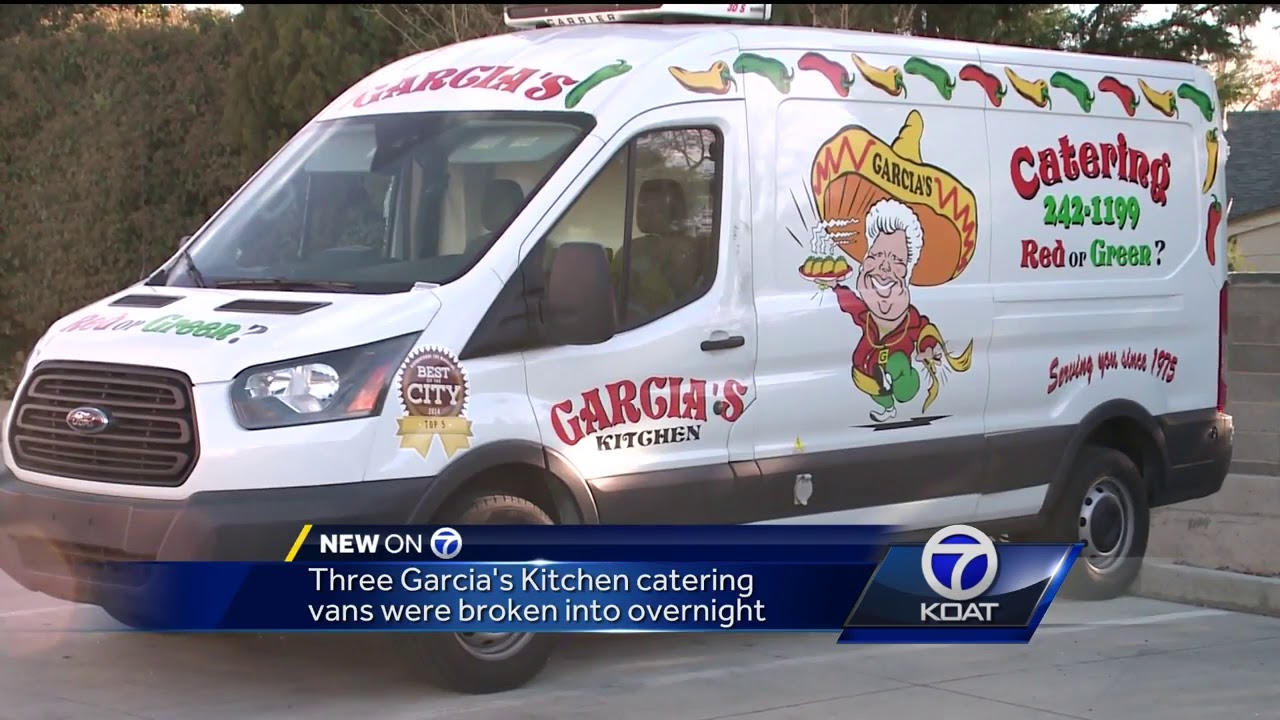 Vandals shatter catering truck windows