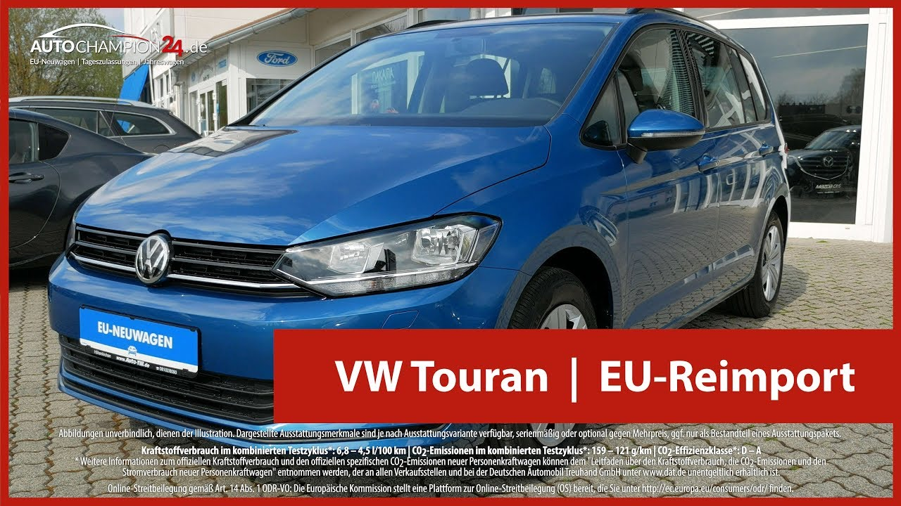 vw touran reimport eu neuwagen 4k uhd youtube. Black Bedroom Furniture Sets. Home Design Ideas