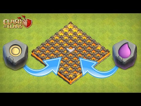 CLASH OF CLANS | UPGRADING WALLS WITH THE RUNE OF GOLD AND ELIXIR |