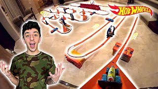 BUILDING THE WORLD'S BIGGEST HOT WHEELS TRACK!! (1,000 FT)