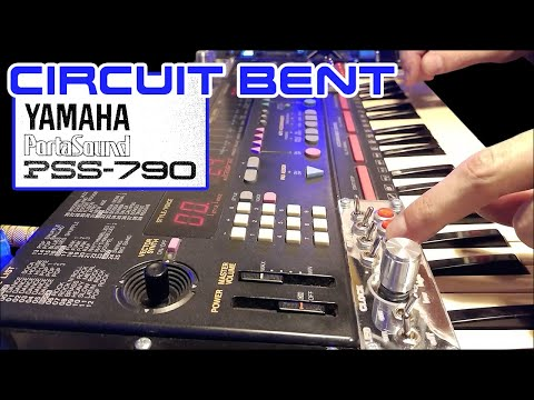"""DEMO circuit bent YAMAHA PSS 790 """"Boutique"""""""