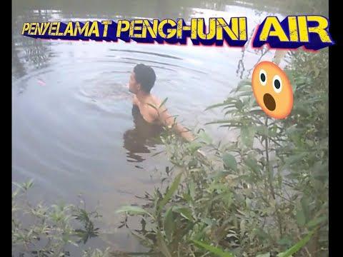 Mancing ikan bandeng sungai (lumo) sampe nyebur.