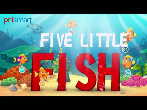 Five Little Fish Swimming In A Pool-CGI Anime English Nursery & Popular Rhyme | Prismart [HD]