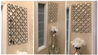 elegant wall decor using dollar tree shower curtain rings d i y home decor