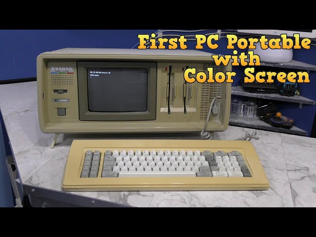 Sanyo MBC-775 - The first PC portable computer with color screen.