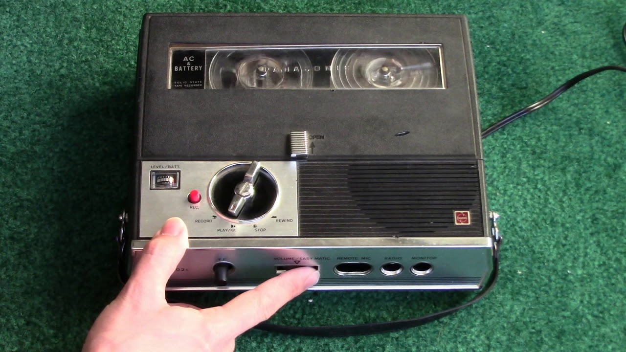 Panasonic Rq-102s 3 5-inch Reel-to-reel Tape Recorder